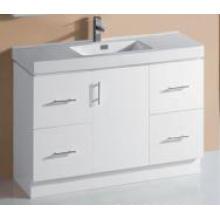 Vajilla sanitaria del cuarto de baño del MDF del blanco de las mercancías (P6011-1200W)