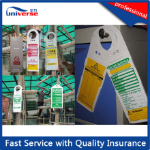 Injection Moulded ABS / PP / PVC Safety Plastic Scafftag Holder