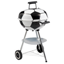 Football Shaped Design Charcoal BBQ Grill Barbecue