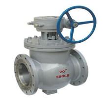 Válvula de esfera montada de entrada superior engrenagem operada (GSQ347F)