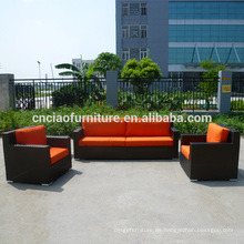 Sofá moderno juego de muebles de jardín de ratán
