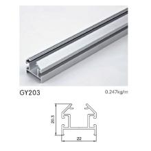 Eloxierte silberne Aluminiumbahn für Garderobenrahmen