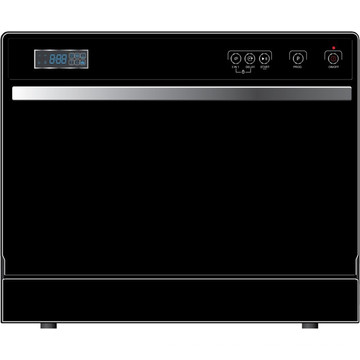 6 place setting countertop tabletop portable dishwasher with LED display