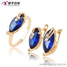 Mulheres de luxo mais recente modelo de moda jóias cz gemstone jóias set com anel, brinco -63657
