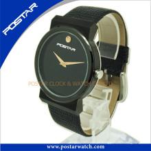 Relógio normalmente redondo com chapeamento preto IP Psd-2781