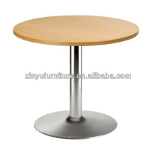 Stainless steel base round coffee table XT7016