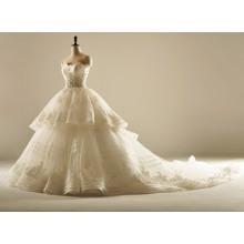 A Line Stripes High Quality Wedding Dress