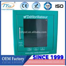 Hsinda-Cabinet para AED gabinete de desfibrilador médico de montaje en pared de alta calidad