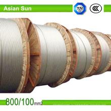 Зебра проводника acsr Оголяют алюминиевого проводника усиленная сталь проводника acsr