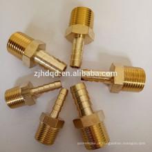 Manguito de compressão de ar de latão Conexões de conector macho, alta qualidade
