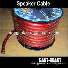 1/0GA Matte Red Car Audio Speaker Cable