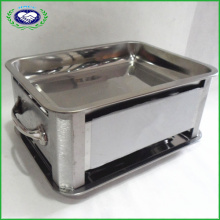 Silver Plated Rectangular BBQ Grill with Tray