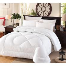 Edredão de cama de retalhos de cor branca de preço barato