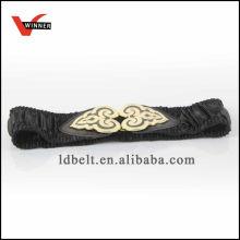 Hot Sale Black com fivela de ouro cintura de moda feminina
