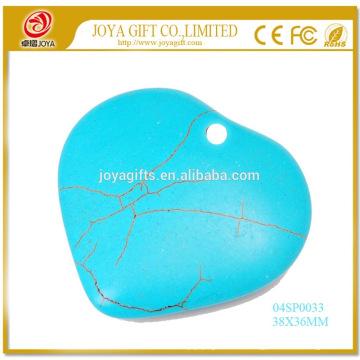 Collar de piedra preciosa de la joyería de la turquesa de la piedra preciosa los 38MM