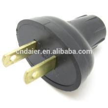 Adaptador de clavija de 2 espigas Adaptador ASP-1200 Black Head