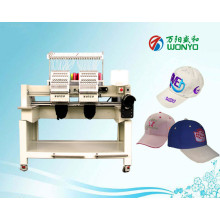 Wonyo 2 máquina computarizada principal del bordado para el casquillo / el sombrero / la camiseta / la insignia / el plano / el bordado de las prendas de vestir
