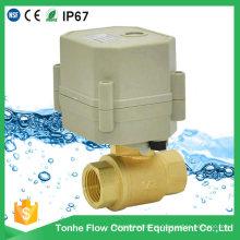"1/2 ""Inch Dn15 AC230V NSF61 Água Elétrica Pequeno Motorizada Válvula de Esfera"