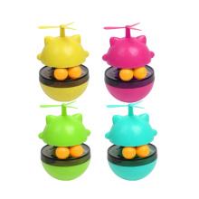 Vaso interactivo multicolor del juguete del dispensador de la comida del perro del animal doméstico