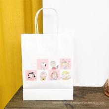 Saco de papel de compras com impressão de logotipo