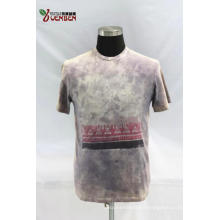 Jersey Dirty Wash Round Neck With Printing Shirt