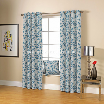 European Popular Pattern Polyester Jacquard Curtain Fabric