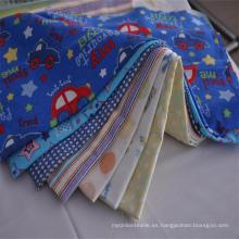 Fábrica Nuevo Diseño 20 * 10 40 * 42 100% Tela de Franela de Algodón para Bebé y Juego de Cama
