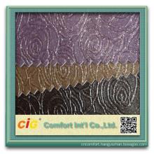 Latest Morden Rose Design Surface Crystal Metallic Decotative Sofa Artifical PVC Leather