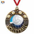 Médailles en vrac de volleyball et récompenses avec rubans de médaille
