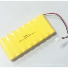 Bateria recarregável AA 600mAh 9,6V NI-CD