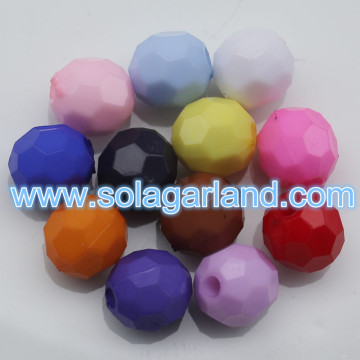 4-20MM Acryl Opaque facettierte runde Perlen