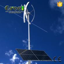 Sistema de vento Solar com em-grade e da fora-grade horizontal