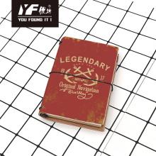 Cuaderno de PU con correa de estilo retro