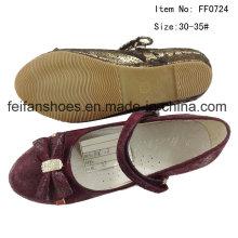 Детская обувь Девочка танцевальная обувь Принцесса обувь плоские туфли (FF0724-27)