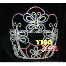 Corona cristalina de la tiara de la princesa de la mariposa de la flor superventas