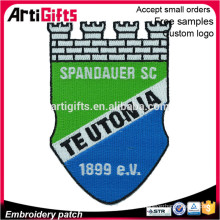 Custom design sew on fabric emblem