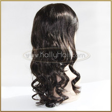 Natural Black Body Wave Hair Synthetic Lace Front Wigs For Black Women