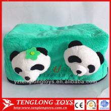 Plush custom tissue box cover