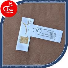 Étiquette faite sur commande d'impression de logo de marque faite sur commande, étiquette imprimée matérielle de ruban