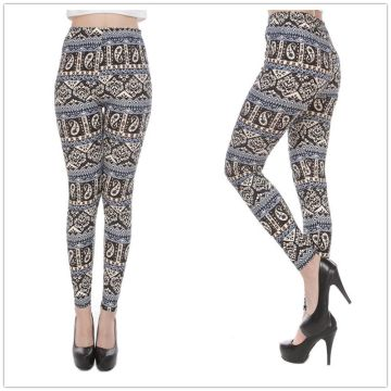 Ladies sexiga digitala tryck sublimering färgglada leggings