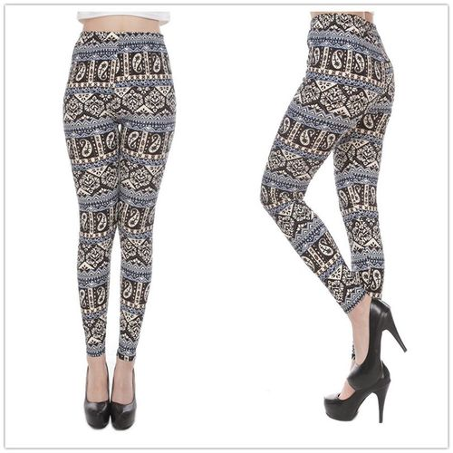 Leggings colorés en sublimation imprimée sexy pour dames