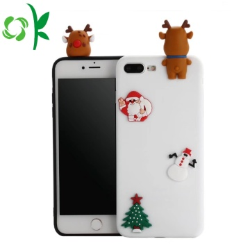 Julklapp 3D Lovely Soft Silicone Phone Shell