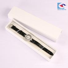 Boîte d'emballage de montre de luxe de bracelet fait sur commande de luxe de logo de carton de rectangle de Sencai avec la mousse
