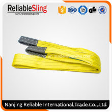 Price 3 Ton Polyester Flat Duplex Lifting Belt Sling with Eyes
