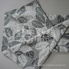 Chenille Jacquard Fabric with Leaf Pattern for Home Decoration