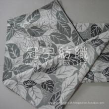 Tecido Jacquard Chenille com folha padrão para a decoração Home