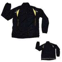 Yj-3003 Black Polyester Sports Sporty Sport Jacket for Men