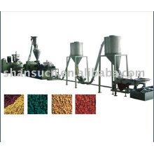 Línea de producción de peletización de PVC y madera