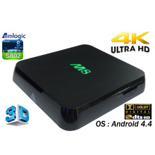 Smart Android TV Box con Amlogic S802, 2GB, 8GB Quad Core, Dts, Dolby, 4 k Video M8 Ott TV caja Internet Google Android 4.4 TV Set Top Box con Bluetooth