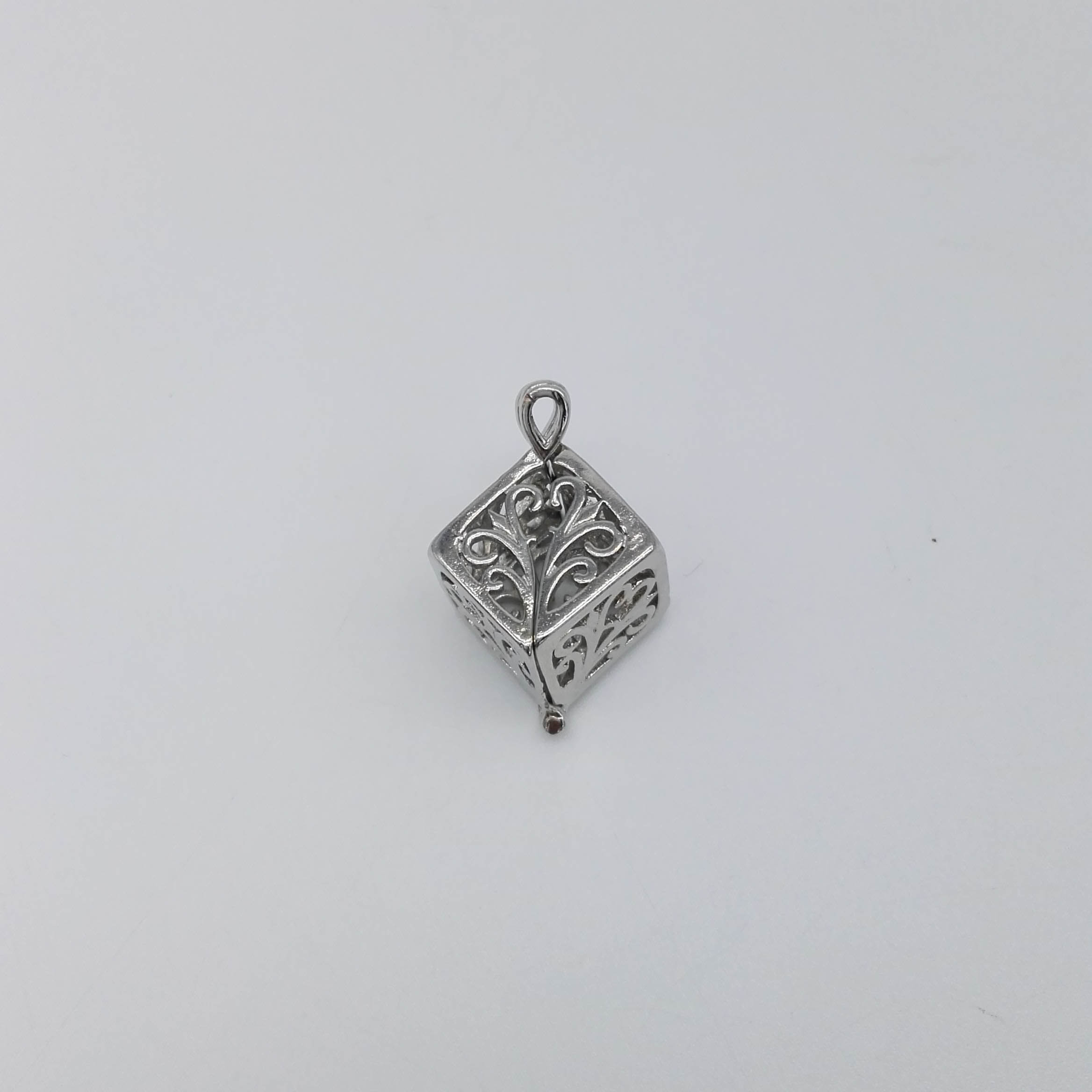 Cube Shaped Cage Pendant